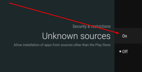 Enable Unknown Sources Nvidia Shield TV